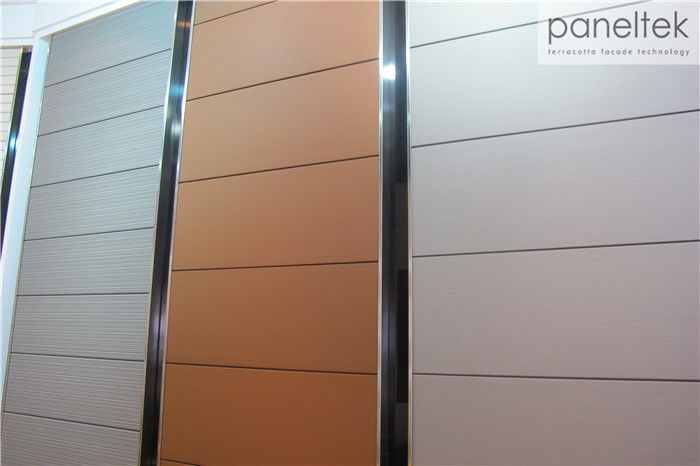 Wall Decoration Terracotta Ventilated Facade , All Sizes Wall Cladding Materials